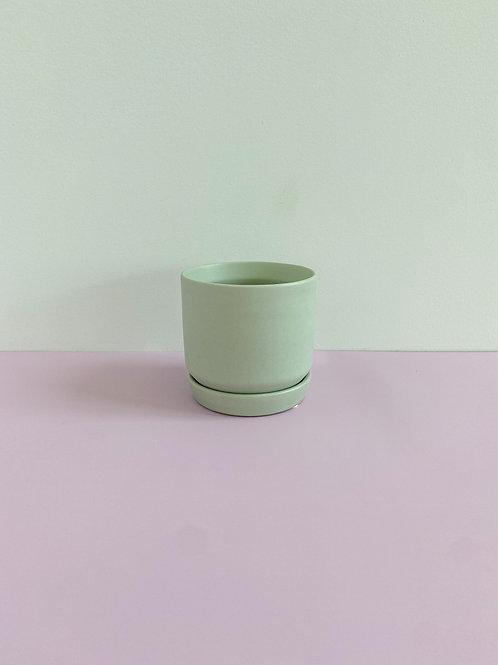Sage Cylinder Pot 8cm