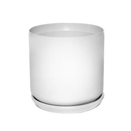 Cylinder Pot White 18cm