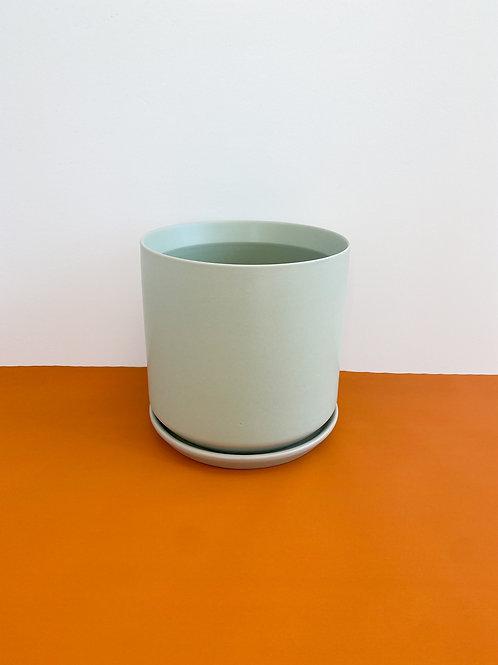 Cylinder Pot Matte Green 18cm