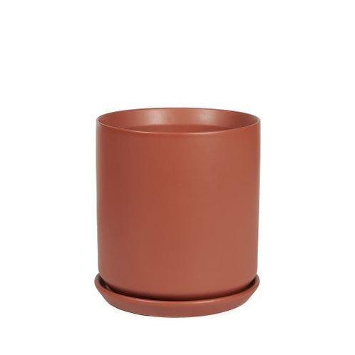 Cylinder Pot Desert Red 18cm