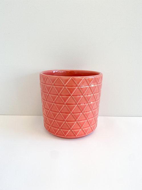 Coral Glazed Pot