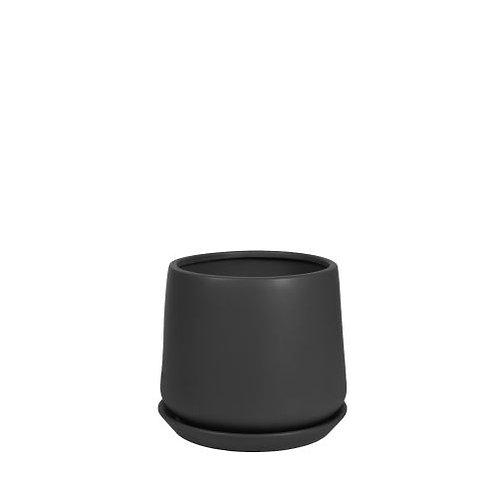 Black Taper Pot 16cm