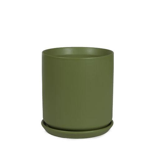 Cylinder Pot Avocado 18cm
