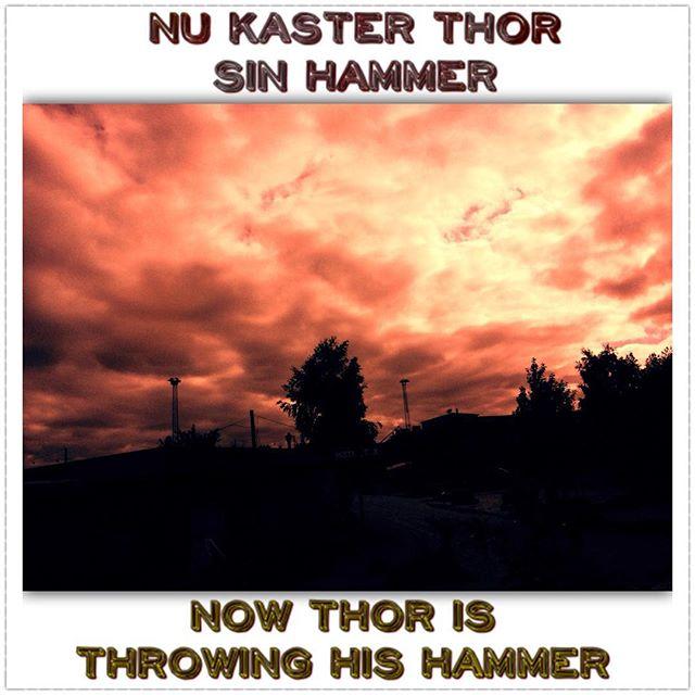 No filter, but one huge lens #danish #dansk #thor #norsegods #danglish #engelsk #english #danishlang