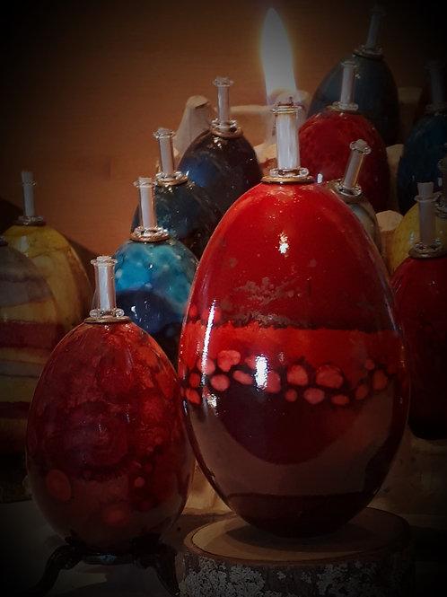 Chandelle en forme d'oeuf / Egg shape candle