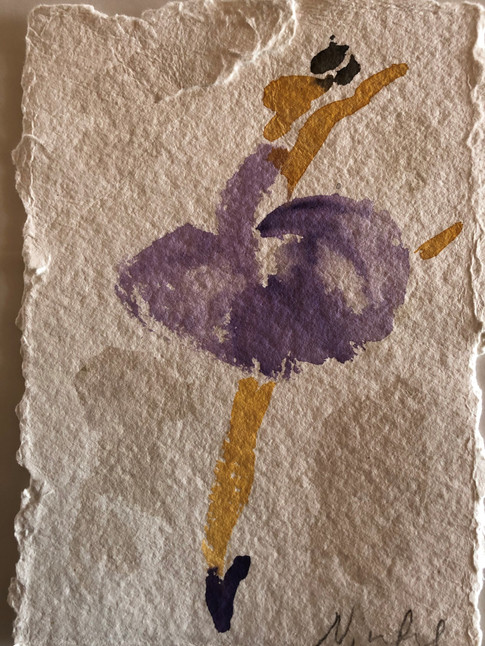 Lilla ballet, ca. 20x15 cm