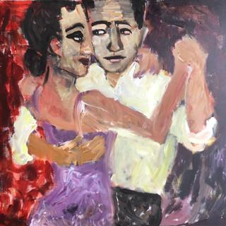 Dans i milongaen, 90x90 cm