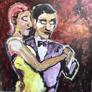 Dans i milongaen, 120 x 120 cm
