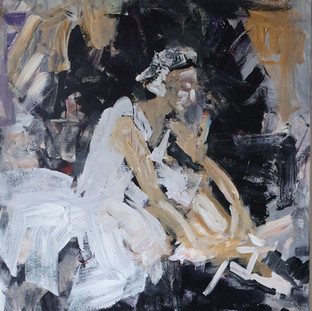 Ballerina snører balletsko, 120x120 cm