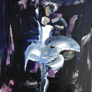 Ballet med mørk baggrund, 50 x 40 cm