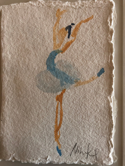 Blå ballet I, ca. 20x15 cm