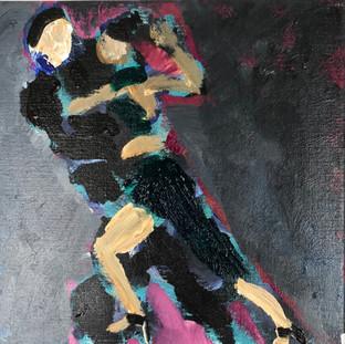 Dans i natten, 35 x 35 cm