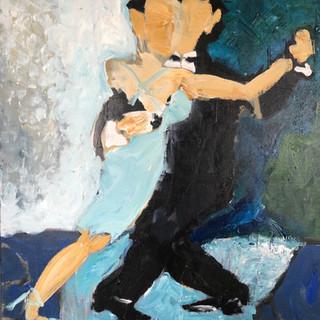 Dans over hav, 90 x 90 cm