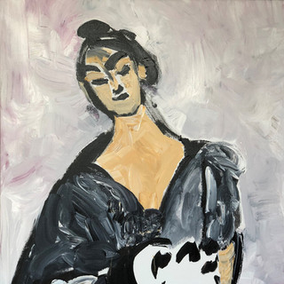 Salome, parafrase over Tizian, 120 x 100 cm