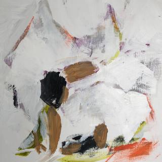 Pige snører balletsko, orange, 50 x 50 cm