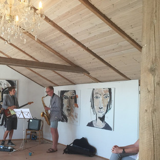 Duoen Bugge og Gammelgaard spiller jazz
