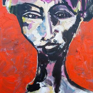 Kvinde med byrde II, 130x100 cm