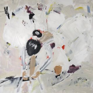 Pige snører balletsko, 90 x 90 cm