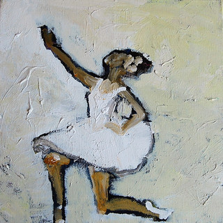 Balletpige nejer, 50x50 cm