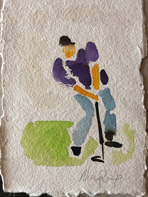 Golfspiller IV, ca. 20x15 cm