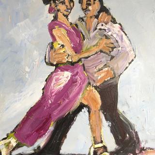 Dans i hvide sko, 90x80 cm