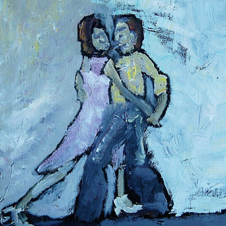 Dans i måneskin, 50x50 cm