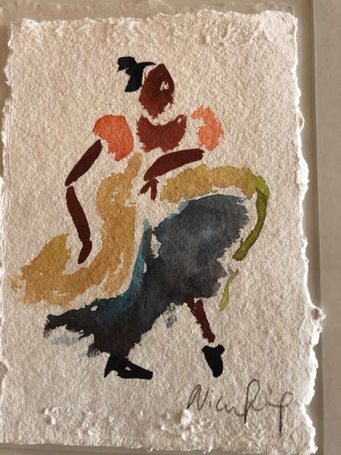 Flamencodanser, ca. 20x15 cm