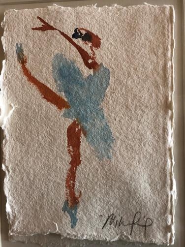 Blå ballet II, ca. 20x15 cm