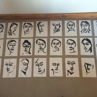 Tusch på japanpapir, de forsvundne i Chile under diktaturet