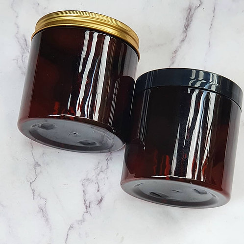The Package Factory 500g Amber PET Cosmetic Jars Lagos, Nigeria