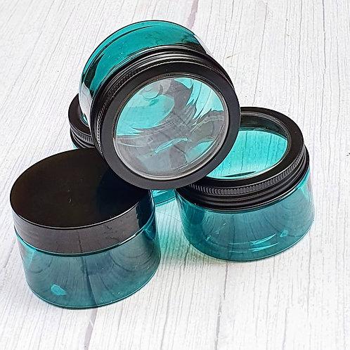 120ml Teal Color PET Plastic jars