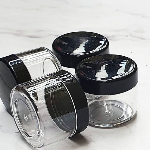 The Package Factory 20/30g Clear PET Cosmetic Jar Lagos, Nigeria