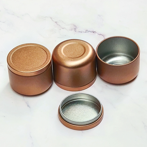 50ml Coppery Gold metal tins