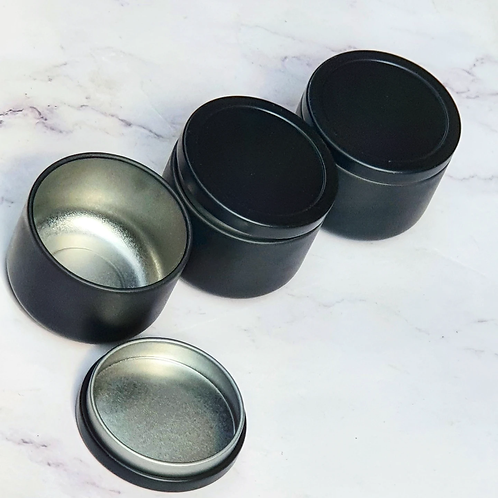 50ml Black Tin Jars