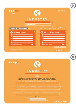 Industry wireframes
