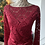 Thumbnail: Red lace blouse with top