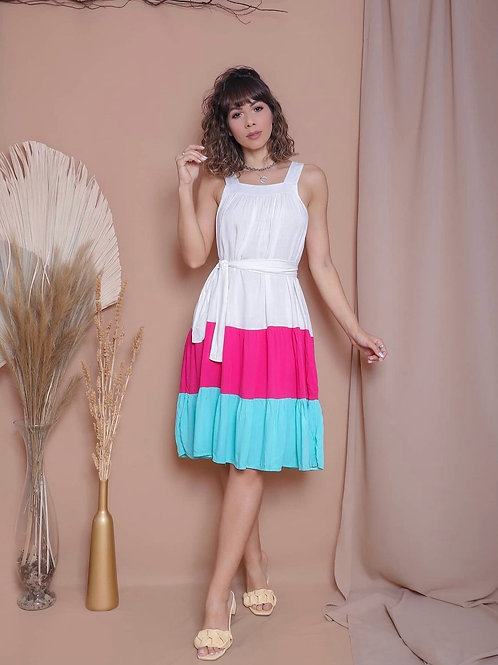Duo Color Dress
