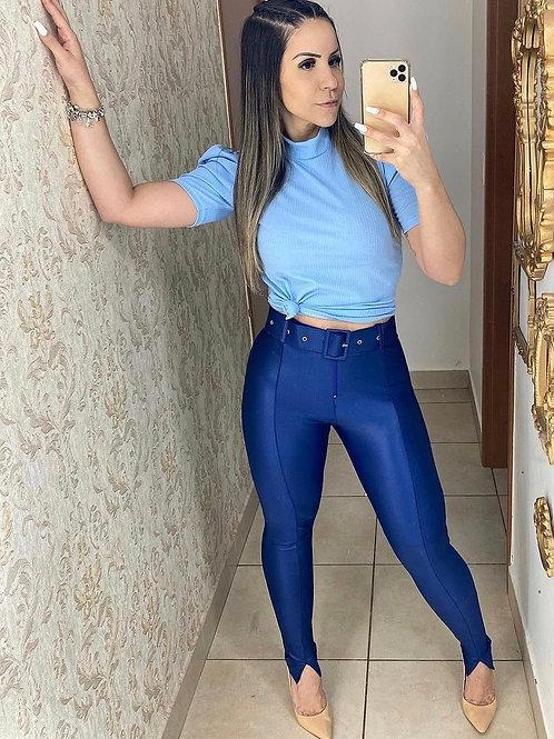 Cirrê Blue trouser with belt