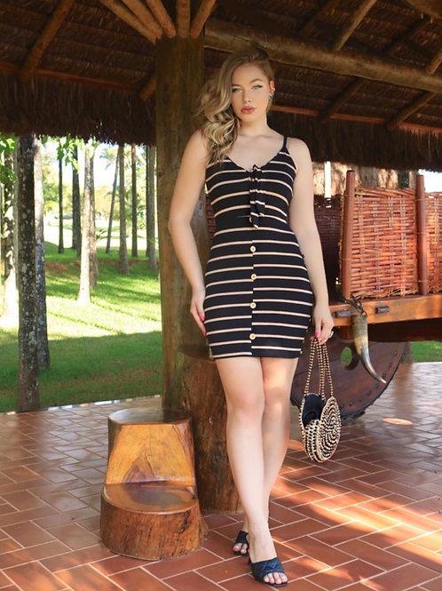Black Tie striped dress