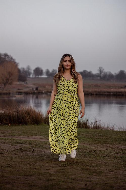 Lime long Dress