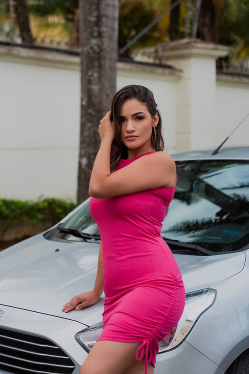 Pink Pull up Dress