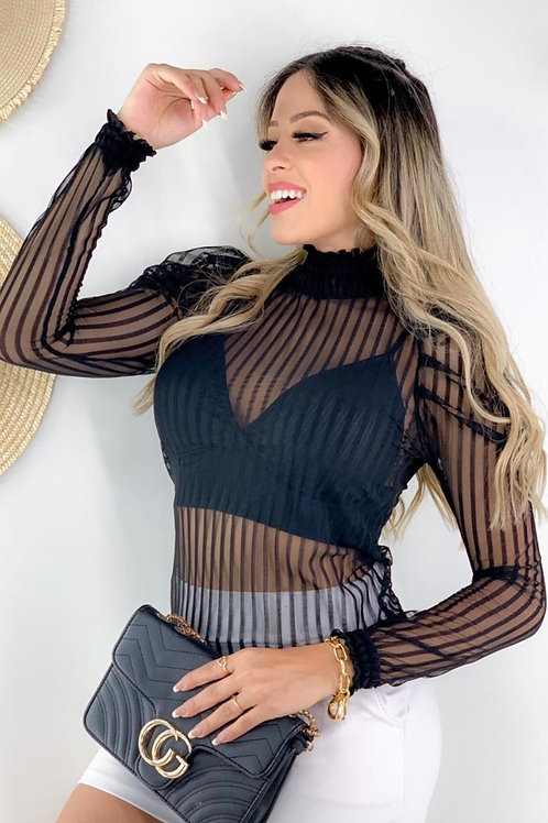 Striped blouse with Top