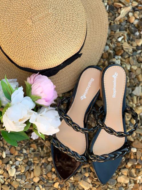 Black Flat Sandal