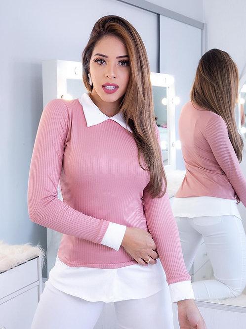 Light pink overlay Blouse