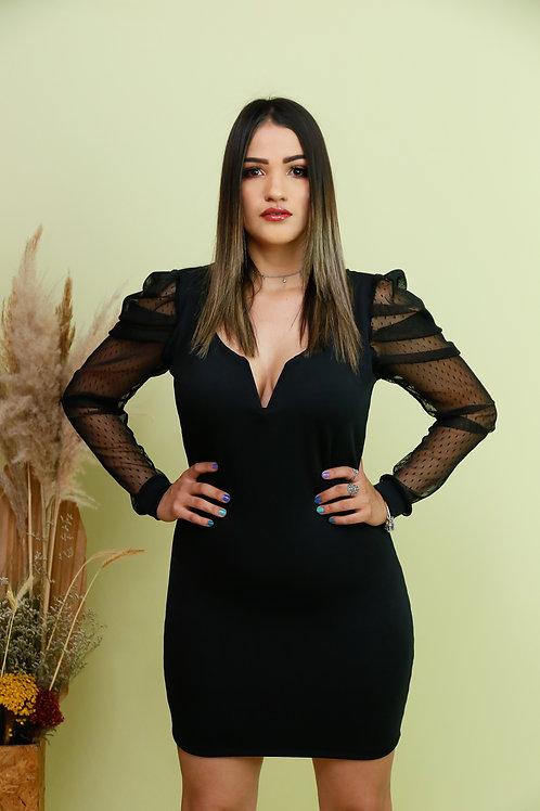 Scuba Lace sleeve Dress