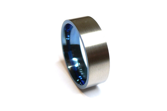 Blue Ti Ring
