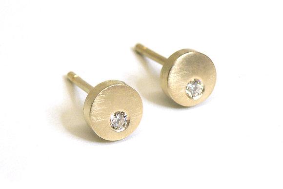 Diamond & Disc Earrings
