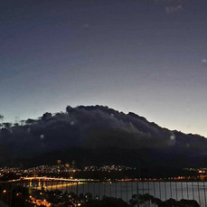 Ominous, sensational and spectacular Hobart storm-clouds in the west and heading our way,