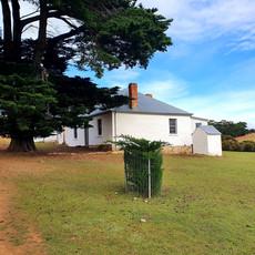 White brick cottage