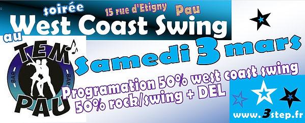 Soirée 100% West Coast Swing au TemPau bar